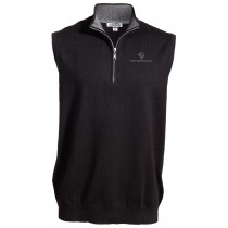Quarter Zip Fine Gauge Sweater Vest***Discontinued - Select sizes still available***
